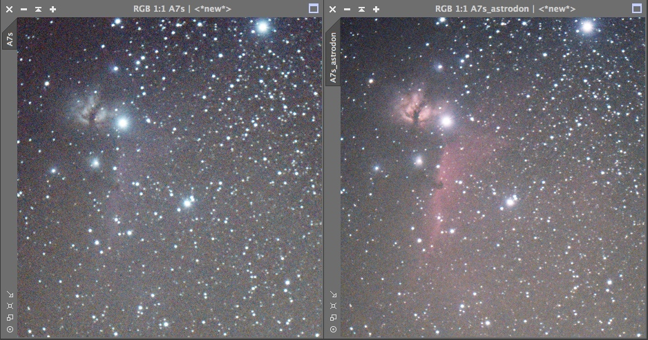 NGC7000 en grand champs (mosaique de 4 images) A7S